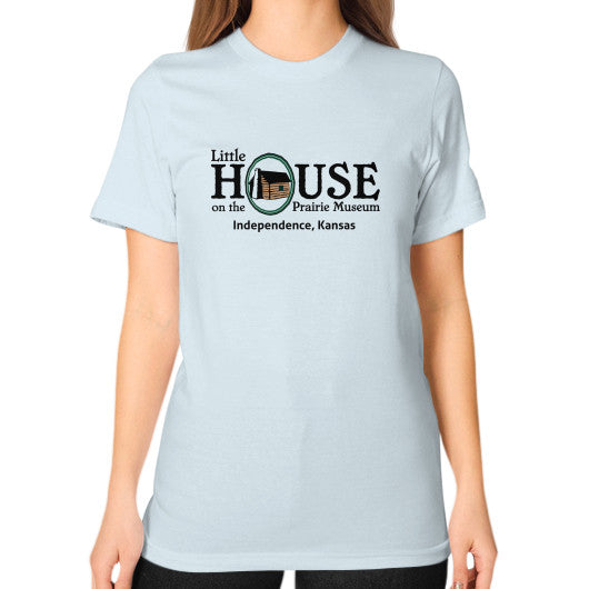 Unisex T-Shirt (on woman) Light blue Little House on the Prairie Museum