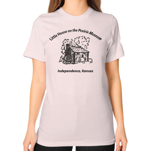Unisex T-Shirt (on woman) Light pink Little House on the Prairie Museum