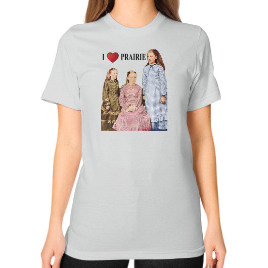 Unisex T-Shirt (on woman) Silver Little House on the Prairie Museum