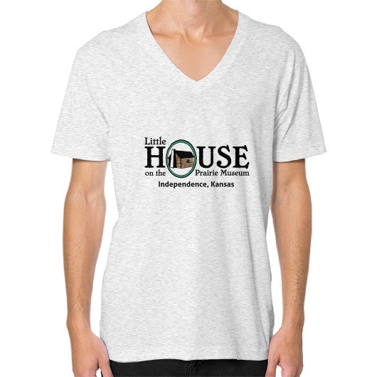 V-Neck (on man) Ash grey Little House on the Prairie Museum