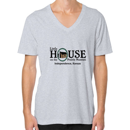 V-Neck (on man) Heather grey Little House on the Prairie Museum