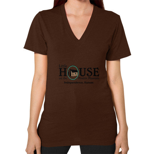 V-Neck (on woman) Brown Little House on the Prairie Museum