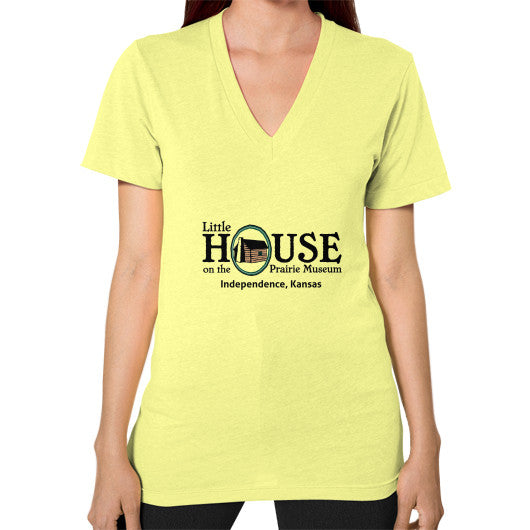 V-Neck (on woman) Lemon Little House on the Prairie Museum