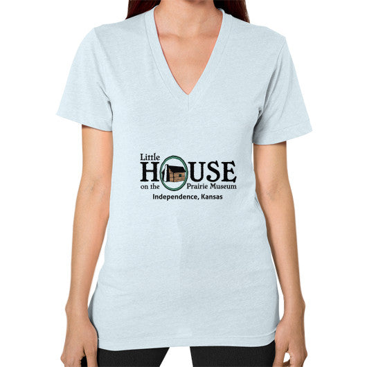 V-Neck (on woman) Light blue Little House on the Prairie Museum