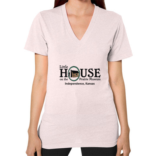 V-Neck (on woman) Light pink Little House on the Prairie Museum