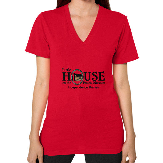 V-Neck (on woman) Red Little House on the Prairie Museum