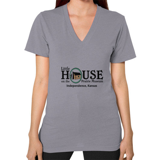 V-Neck (on woman) Slate Little House on the Prairie Museum