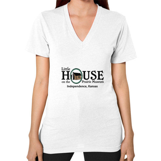 V-Neck (on woman) White Little House on the Prairie Museum