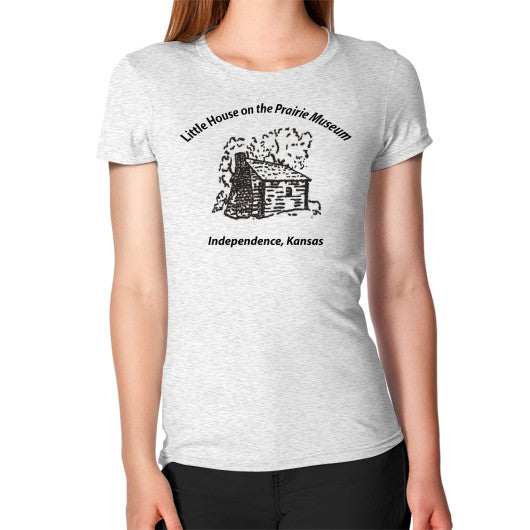 Women's T-Shirt Ash grey Little House on the Prairie Museum