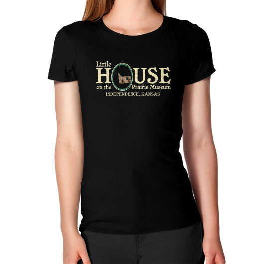 Women's T-Shirt Black Little House on the Prairie Museum