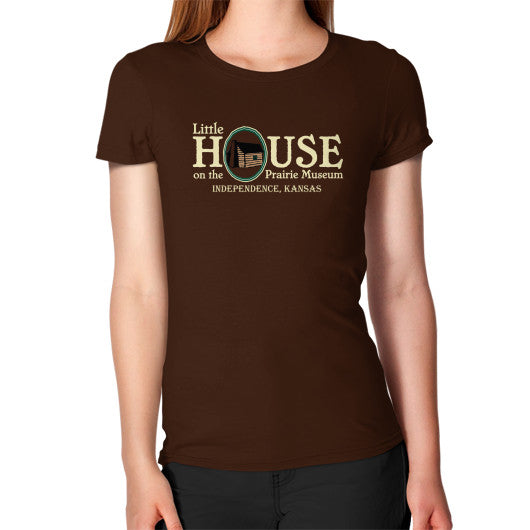 Women's T-Shirt Brown Little House on the Prairie Museum