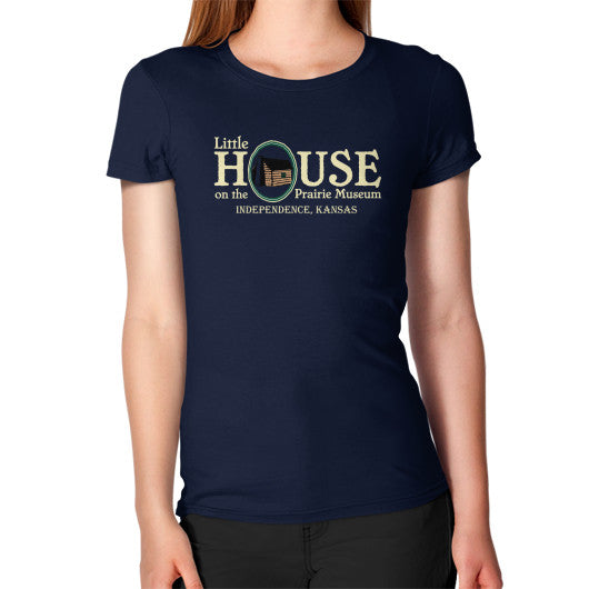 Women's T-Shirt Navy Little House on the Prairie Museum