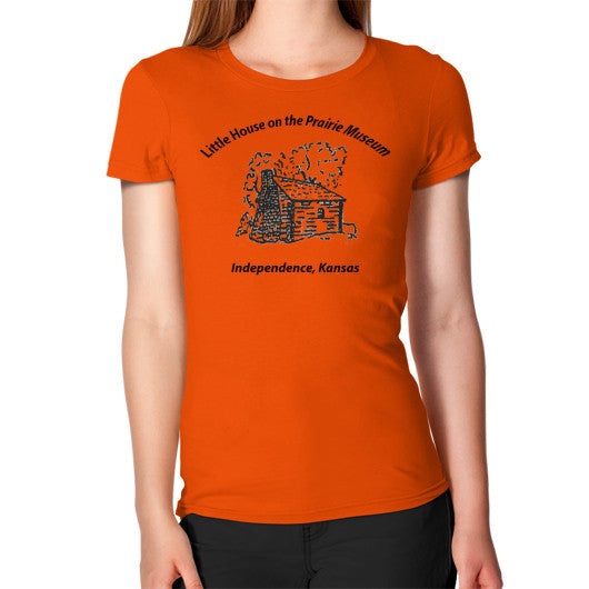 Women's T-Shirt Orange Little House on the Prairie Museum