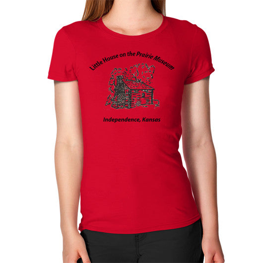 Women's T-Shirt Red Little House on the Prairie Museum
