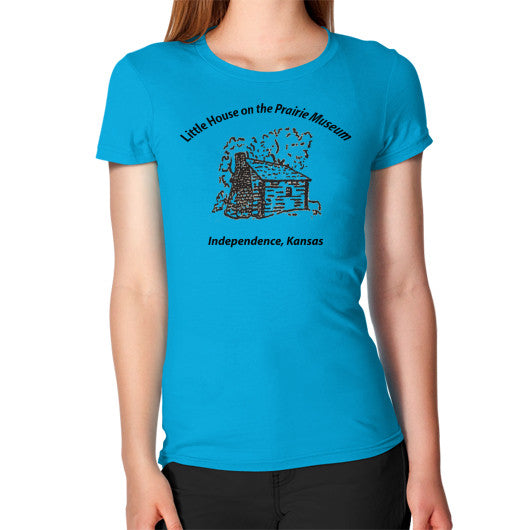 Women's T-Shirt Teal Little House on the Prairie Museum