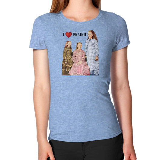 Women's T-Shirt Tri-Blend Blue Little House on the Prairie Museum