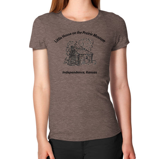 Women's T-Shirt Tri-Blend Coffee Little House on the Prairie Museum