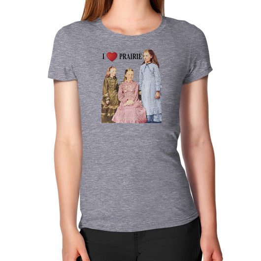 Women's T-Shirt Tri-Blend Grey Little House on the Prairie Museum