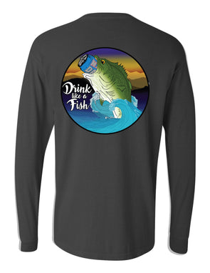 7a5a12da9 Long-Sleeve Drink Like A Fish Pocket T-Shirt (Pepper) - Stay