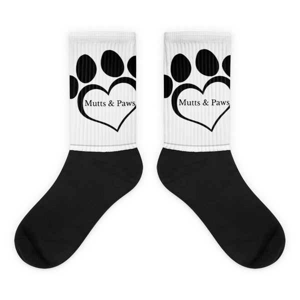 Mutts Black foot socks