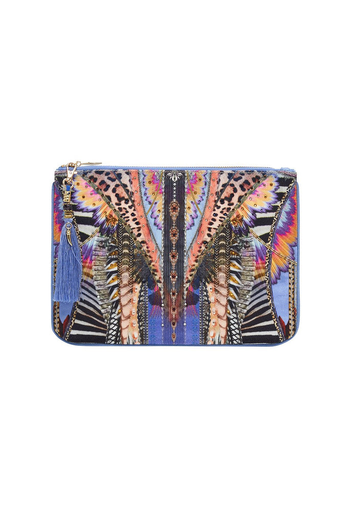 Camilla Love on the Wing Small Canvas Clutch