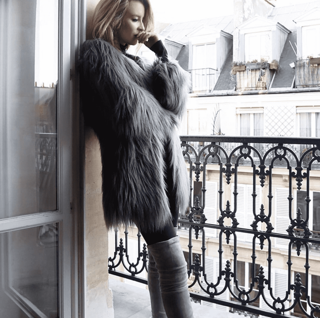 Unreal Fur Wanderlust Coat SLATE GREY - Miko + Mollie
