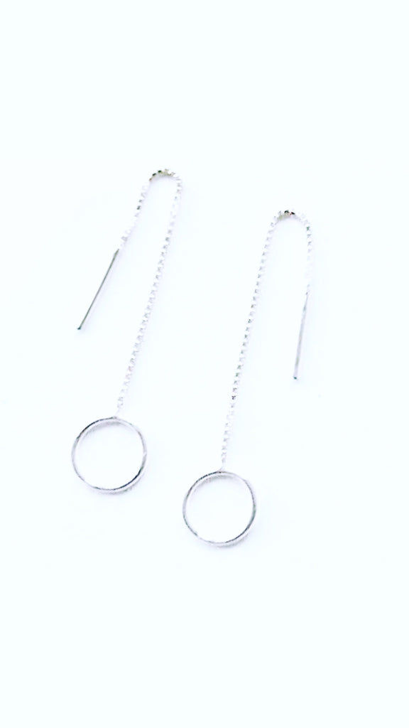 The Bali Artisan Collection Stirling Silver Small Suspended Circle Earring