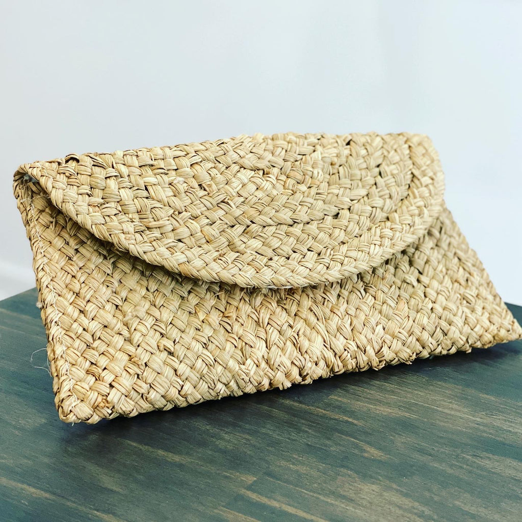 The Bali Artisan Collection Handwoven Seagrass Clutch