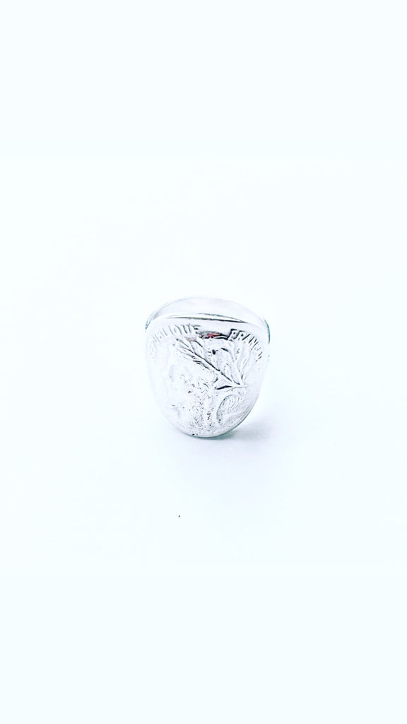 The Bali Artisan Stirling Silver Large Coin Ring