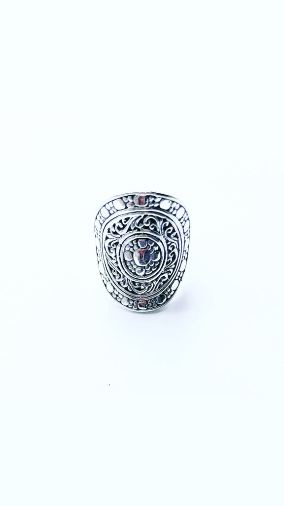 The Bali Artisan Stirling Silver Large Balinese Ring