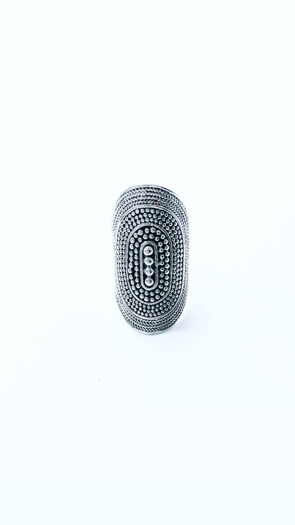 The Bali Artisan Stirling Silver XL Balinese Ring