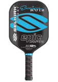 Cyan Blue 30P XL Enrique Signature Epic Polymer Graphite Pickleball Paddle - Pickleball Experts.com