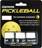 White Gamma Supreme Pickleball Paddle Overgrip - PickleballExperts.com