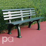 Green Courtside Pickleball Bench - 5ft