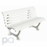 White Deluxe Courtside Pickleball Bench - 5ft