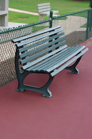 Green Deluxe Courtside Pickleball Bench - 5ft