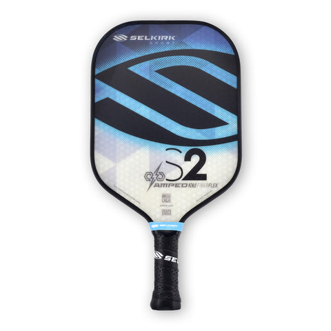 Blue AMPED S2 X5 FiberFlex Pickleball Paddle - Pickleball Experts