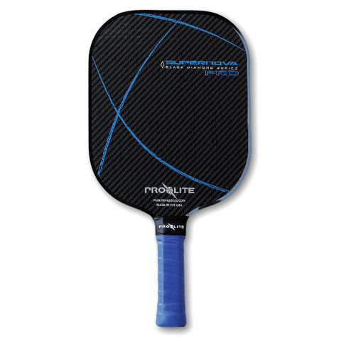 Blue Supernova Pro Black Diamond Series Pickleball Paddle - Pickleball Experts