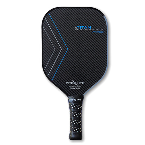Blue Pro-Lite Titan Pro Black Diamond Series Pickleball Paddle - Pickleball Experts