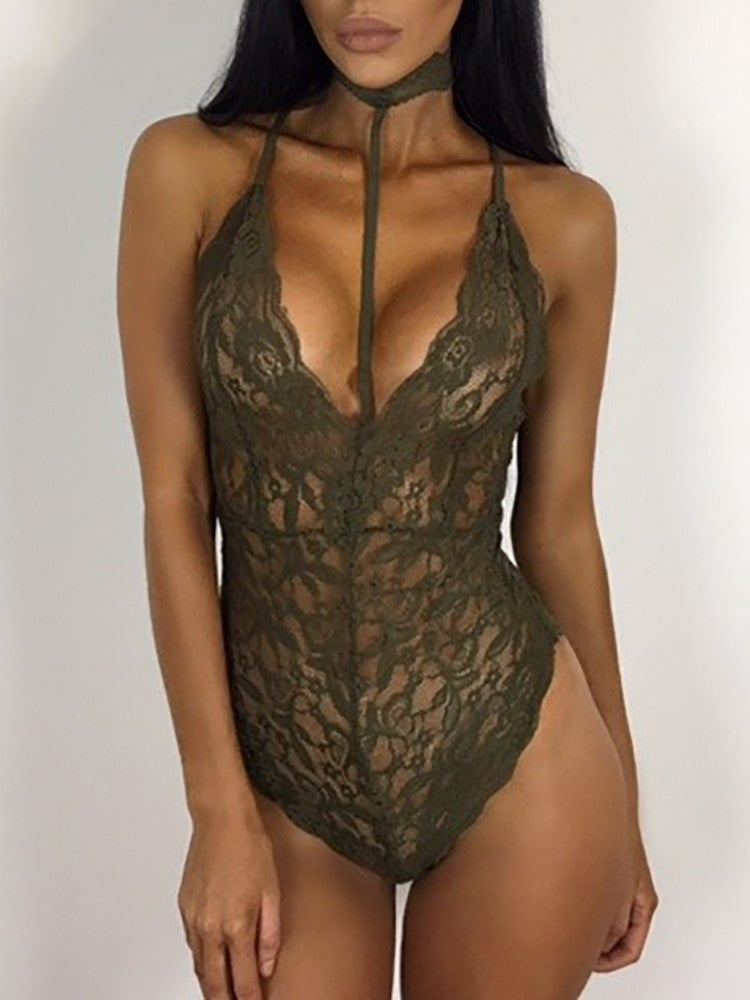 Lace Collar Body Suit
