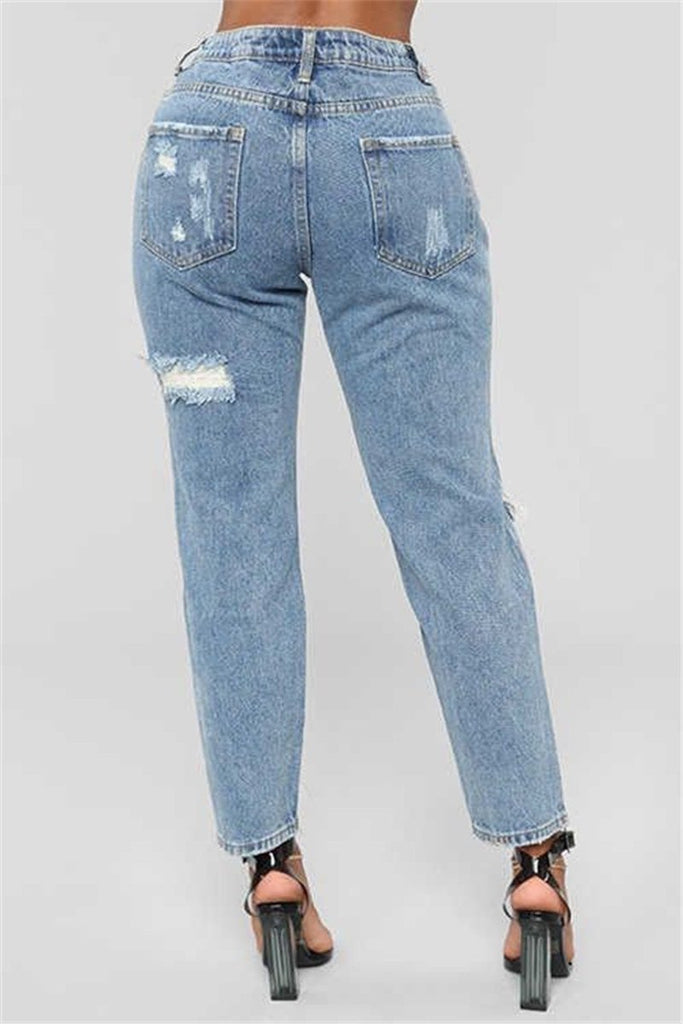Hole Distressed Painted Jeans