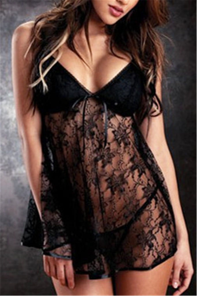 Lace Babydoll Dress & Thong