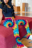Tie Dye Print Drawstring Ruched Pants