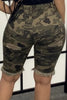 Edge Distressed Camouflage Plus Size Shorts