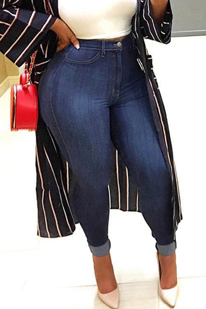 High-elastic Denim Plus Size Jeans