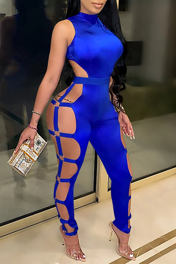 Sleeveless Hollow Out Open Back Jumpsuit