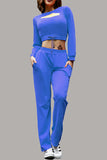 Solid Color Long Sleeve Top and Pants