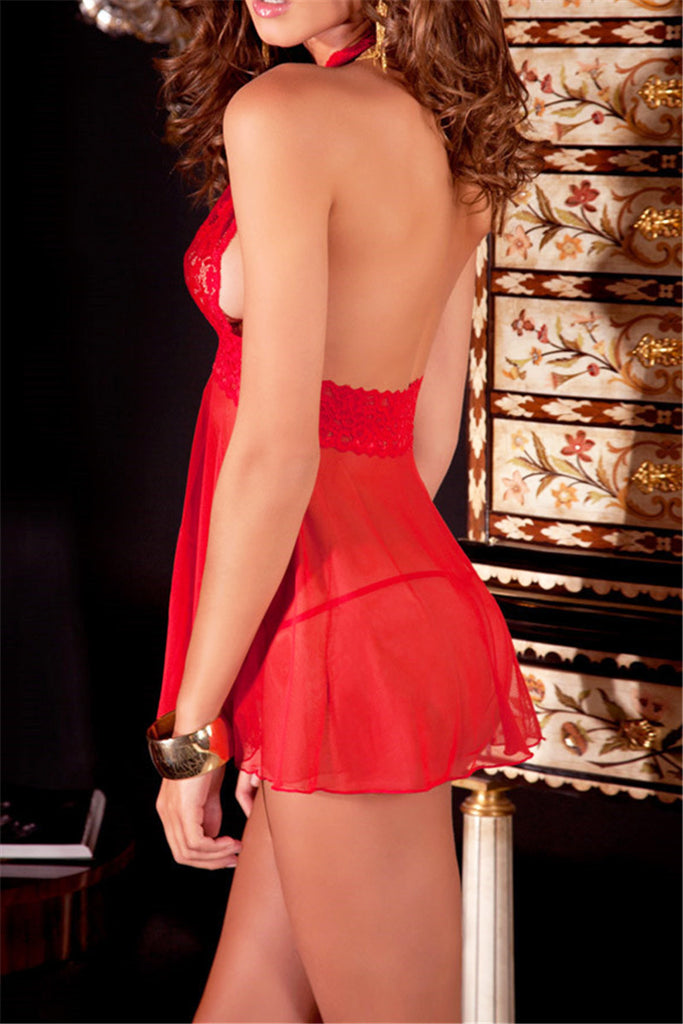 Backless Babydoll with G-String - WHATWEARS