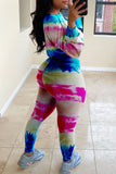 Tie Dye Long Sleeve Two Piece Sets