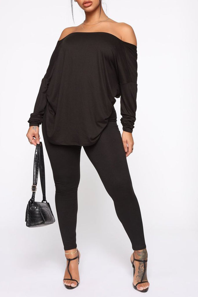 Off The Shoulder Twisted Solid Top & Pants